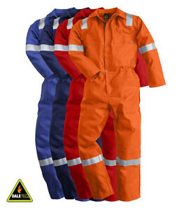 Pioner-Firemaster-Men-Work-Coverall-FR-Overall-FM1040-Plus-Reflective-Tape-New
