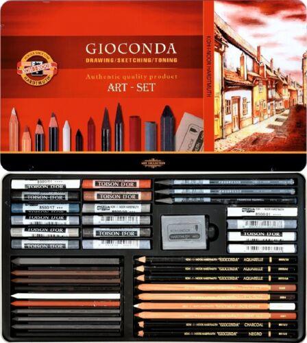 KOH-I-NOOR Gioconda Art Set 8891 39tlg Künstlerset Progresso Pastell Aquarell ..