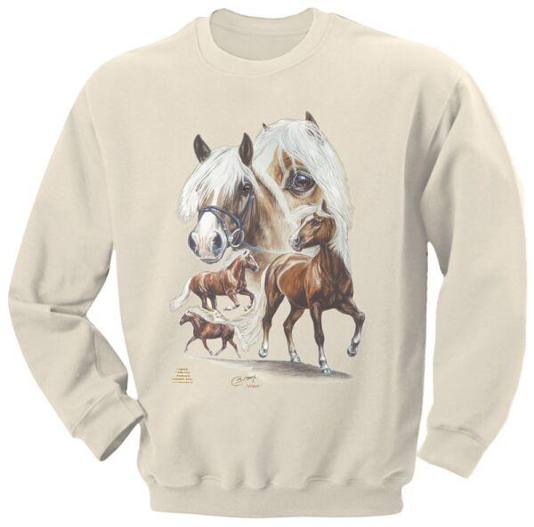 Designer Sweatshirt S – Xxl Haflinger Nilson Collection Boetzel Pferde 09044