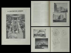 La Construction Moderne N°8 1933 Dugny, Cite Pont Yblon, Germain Dorel, Chicago Prix De Vente