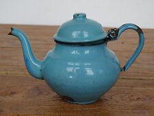 P6889 Email Teekännchen - EMAILLE - KANNE - Kaffeekännchen - hellblau