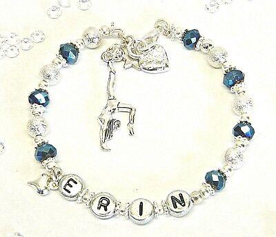 Gioielli Personalizzati Cheerleader, Da Ginnastica O Ballet Bracciale Fine Mandato Regalo-mnastic Or Ballet Bracelet End Of Term Gift It-it