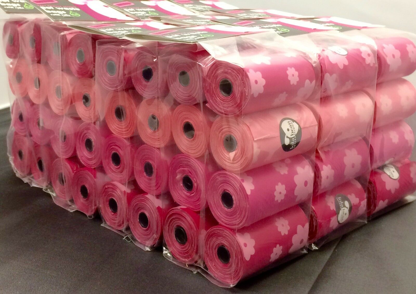 BULK rosa Dog Pet Puppy Poop Waste Pick Up Bags - Refills Rolls 1,920 BAGS