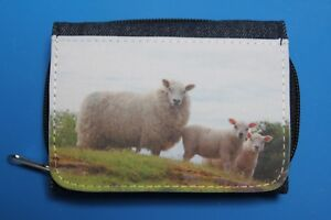 Denim-Purse-with-photo-print-of-Sheep-Robin-or-Squirrel-Free-UK-Postage