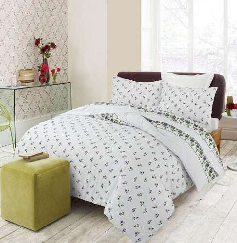 100/% Brushed Cotton Flannelette Duvet Quilt Cover Bedding Set With Pillowcase