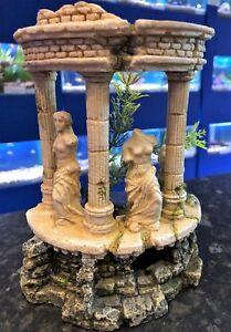 Pet Supplies Dutiful Grecian Goddess Columns Ruin Headless Woman Aquarium Biorb Fish Ornament 369 Rich In Poetic And Pictorial Splendor