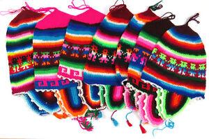 Baby Kindermütze bunt Mütze Ohrenwärmer warm Hirtenmütze Ethno Peru Gr.40-44 KU