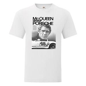 T-Shirt Steve maglia mcqueen,gulf, rally-le mans-tributo-corse-porsche