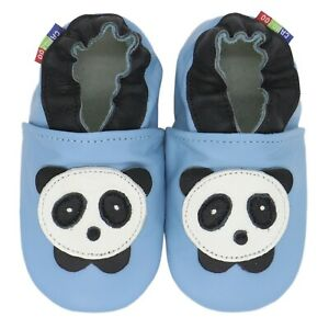 shoeszoo dolphin light blue 3-4y S soft sole leather toddler shoes