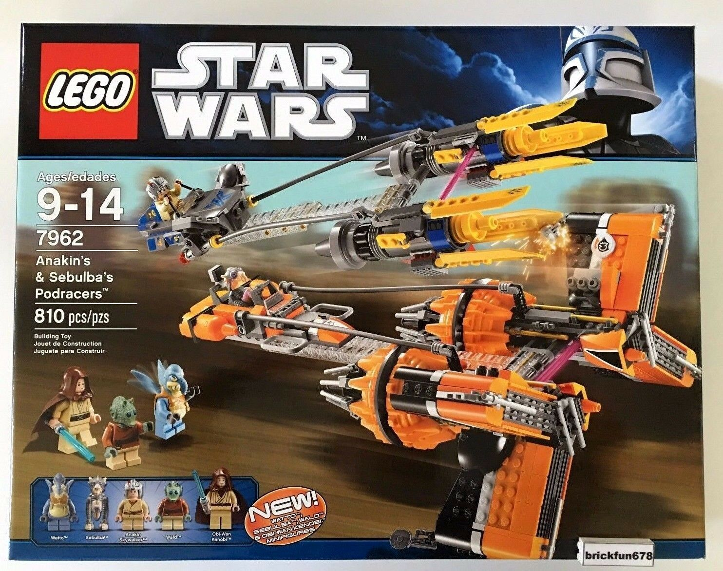 Lego Star Wars 7962 Anakin Skywalker Skywalker Skywalker and Sebulba's Podracers New Sealed Box 758d72
