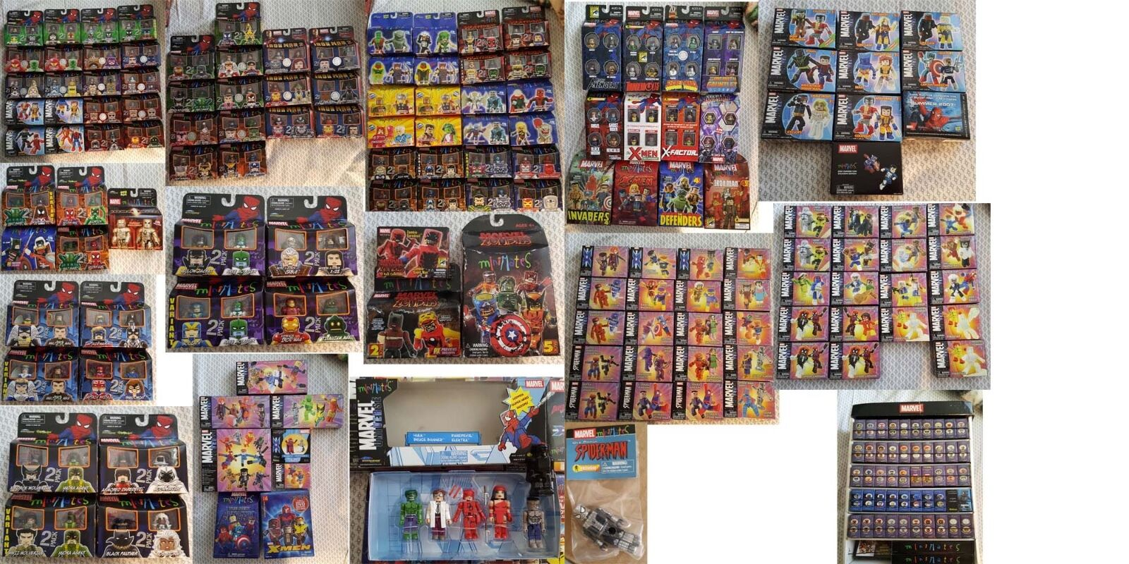 Marvel Minimates Lot 406 Figures MISB MOSC SDCC Exclusive Rare Variant + Bonus