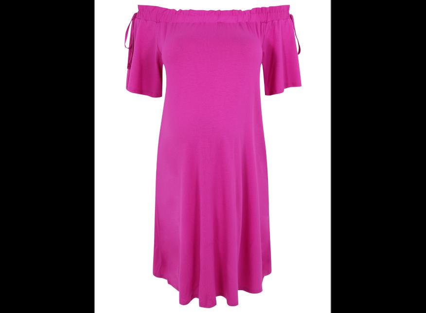 GEORGE MATERNITY Rose Bardot Robe en Taille Jersey Taille en UK12/EUR40 BNWT 13b153