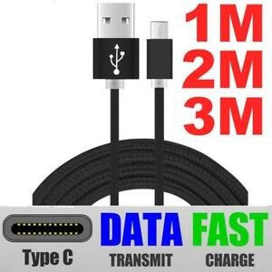 Extra-Larga-Usb-Tipo-C-3-1-cable-cargador-de-datos-rapida-para-Samsung-Galaxy-S8-S9-Plus