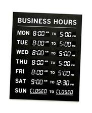 Business Hours Of Operation Sign With Vinyl Sticker For Numbers Modern Open