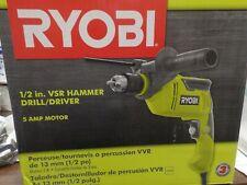 Ryobi 12 Inch Vsr Corded 5 Amp Variable Speed Hammer Drill Hd420 Brand New Box