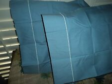 JCP PENNEY COLOR FORUM WEDGWOOD BLUE (PAIR) STANDARD PILLOWCASES PERCALE 20 X 30