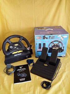 DUAL FORCE Racing Wheel PLAYSTATION Controller Completo in BOX Adattatore PC - Italia - DUAL FORCE Racing Wheel PLAYSTATION Controller Completo in BOX Adattatore PC - Italia
