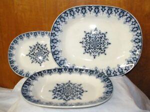 3-Antique-Villeroy-amp-Boch-Wallerfangen-Serving-platters-including-17-034