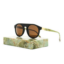 RETROSUPERFUTURE Super Racer Onice Verde Sunglasses I07 Black Gold Mineral Brown