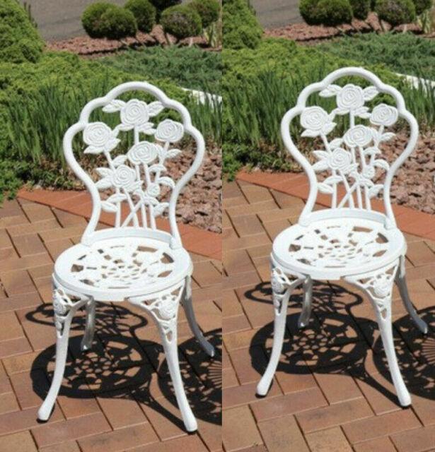 Antique Iron Bistro Set Vintage Garden, Cast Iron Garden Furniture