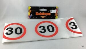 Geburtstag-Schaerpe-30-Jahre-Verkehrsschild-Party-Deko-Girlande-TOP