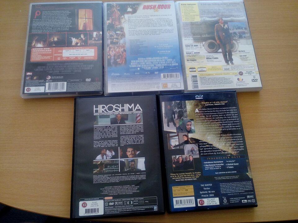 8 blandet film, DVD, andet
