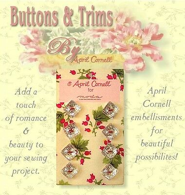 Special Value Limited CRYSTAL SQUARE BUTTONS Carded Gift Set by April Cornell