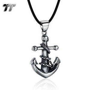 Quality-Made-TT-316-Stainless-Steel-Anchor-Pendant-Necklace-NP348-NEW