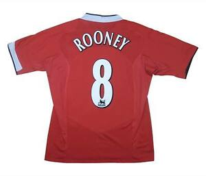 Manchester United 2004-06 Authentic Maglietta Rooney #8 (eccellente) L