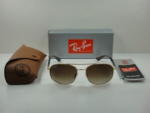 87ebaa09f40 AUTHENTIC RAY-BAN SUNGLASSES RB3593 001 13 GOLD BROWN GRADIENT LENS ...