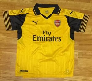 buy online 764fc 0e453 Details about Puma Arsenal FC Alexis Sanchez #7 Yellow Youth Soccer Jersey  Size Large