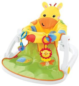 Fisher-Price-Girafe-Sit-ME-UP-Floor-seat-with-Tray-baby-chair-Playset