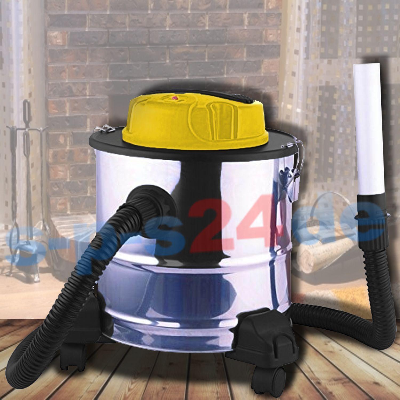 Fahrbarer Aschesauger mit Hepa Filter Kaminsauger 1500 watt 20 Liter + zubehör
