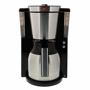 Melitta-Machine-a-Cafe-de-Filtre-Carafe-Isotherm-Selecteur-de-Parfum-Noir-Inox