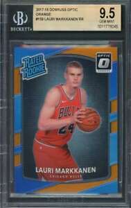 Lauri-Markkanen-Rookie-Card-2017-18-Donruss-Optic-Orange-159-Bulls-BGS-9-5