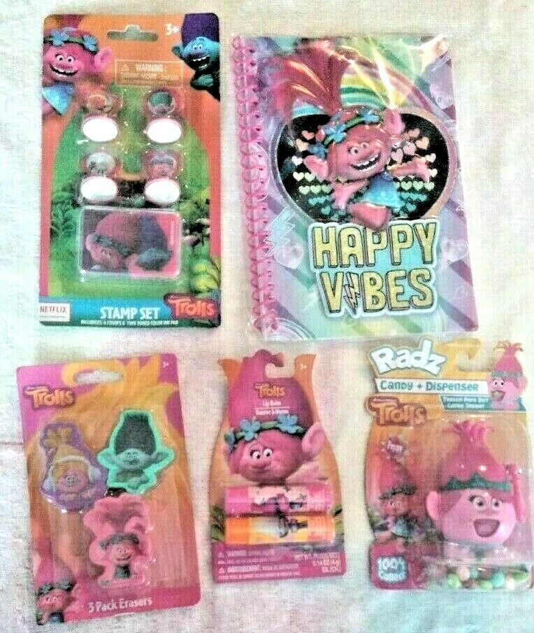 New bundle Trolls 5 Piece Set Toy Toy Toy Food For Gift Poppy 23d27e