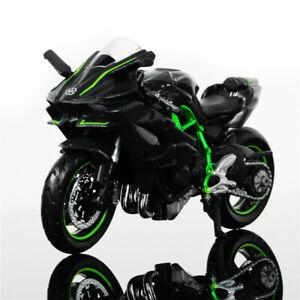 Modelo-Diecast-1-18-moto-coche-Maisto-Kawasaki-Ninja-H2R-Motocicleta-Con-Base-De-Juguete-Regalo
