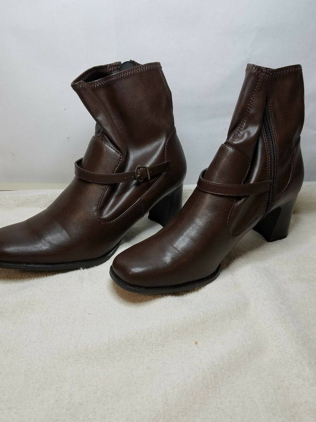 MOOTSIES TOOTSIES MOSOIREEMV DARK BROWN OVER ANKLE BOOTS