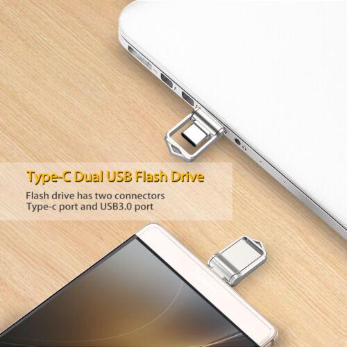 32G 64G Dual Type-C OTG USB 3.0 Flash Drive Waterproof Memory Stick Thumb For PC
