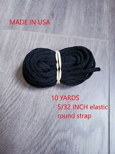 Round Elastic Band Cord Sewing Soft For Face Mask 10 Yards 3 16