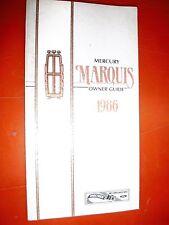 1986 MERCURY MARQUIS ORIGINAL FACTORY OPERATORS OWNERS MANUAL GUIDE