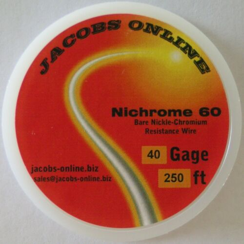 40 AWG gauge Nichrome 60 resistance wire 250 feet