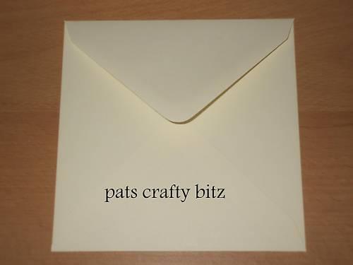 """200 Cream Envelopes Square 155mm x 155mm 6/"""" x 6/"""" 100gsm"""