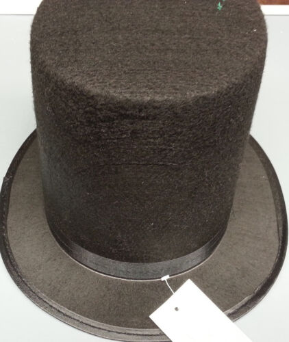 ABE ABRAHAM LINCOLN BLACK TOP HAT CIVIL WAR SMALL 54CM