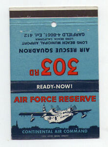 U-S-AirForce-military-bookmatch-cover-RARE-old-prop-aircraft-044