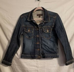 Women's Lee NWOT Denim Blue Jean Dark Wash Jacket Blue Size Medium Button front