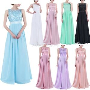 Women-039-s-Embroidered-Long-Prom-Bridesmaid-Party-Wedding-Evening-Prom-Gown-Dress