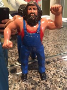 WWF LJN Hillbilly Jim Rubber Wrestling Action Figure 8in WWE Titan Sports VTG!