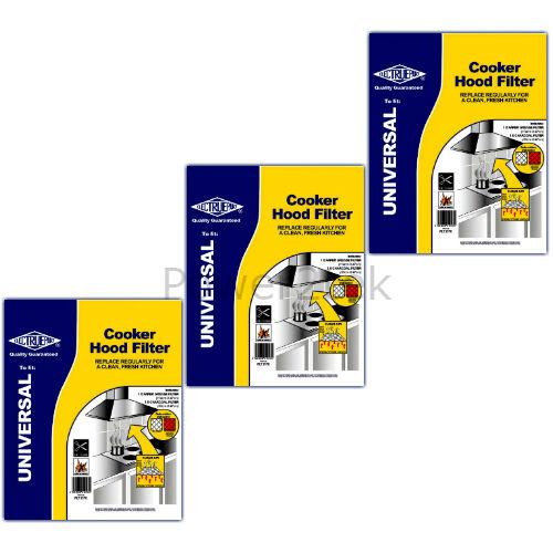 3 x Neff Cappa Estrattore Sfiato Grasso Filtri Carbone /& saturazione SLA