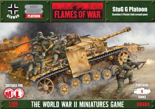 Flames of War StuG G Platoon German Mid-war / Late War Miniatures GBX83